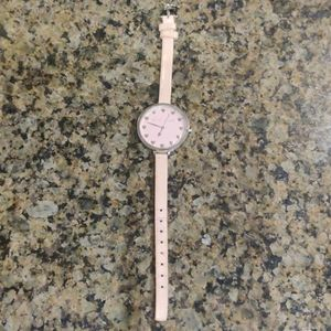 Betsey Johnson Watch in Soft Pink
